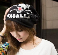 Free Shipping 2013 New Autumn Winter Men&Women's Skeleton Hip-hop Turban Casual Toe Caps Covering Fashion Skullies and Beanies