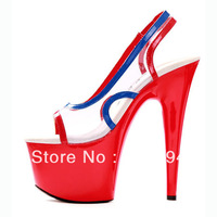new arrive 2013 fashion sexy high heel 17cm women Stage  shoes Waterproof 7cm Performance Shoes for lady size35-42 high Quality