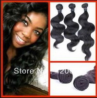 "Grade 4A 8""-30"" brazilian body wave virgin human hair weave 3pcs lot color 1b for your darling nice Christmas gift"