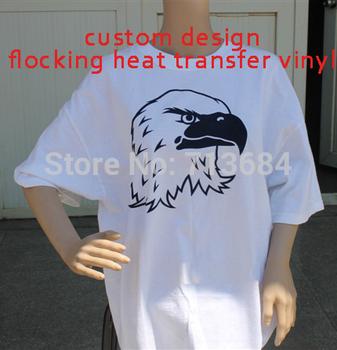 flocking  vinyl Heat Transfer Vinyl Design Logo Custom For Iron ON Heat Press Print T-shirt
