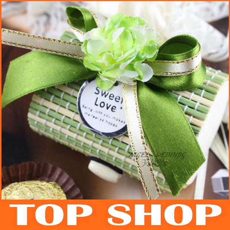 Candy Box Chocolate Sweet Wooden Wedding Box Bamboo Wedding Gift Box HQ0132(China (Mainland))