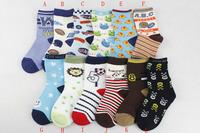 Free Shipping,1 lot=12pairs=24pieces, Children cotton Fashion Crew  boy Socks  age4-6