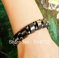 1pcs Fashion Black Magnetic Hematite Therapy Arthritis Beads Bracelet for men women Hot Selling