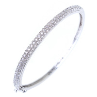 Fashion Elegant Top Quality AAA+ Cubic Zirconia Diamond Thin Bangles For Christmas Wholesale Free Shipping