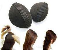 4pcs free shipping hair heighten sponge hair maker pad  Velcro Bump It Up Volume Bumpit Hair Princess Styling Tool Base Insert