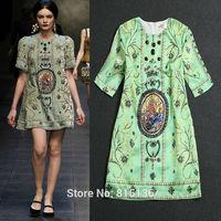 Free shipping Girl gorgeous cuicanduomu sequin silk dress Heavy beaded short sleeve dress