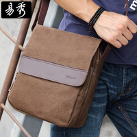 Casual bag Canvas Shoulder Bags Men Messenger Bag Khaki Brown Black Eshow brand BFK010401