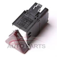 OEM Dark Red Hazard Warning Flash Switch Button For VW Jetta Golf MK5 GTI Rabbit 18G953509