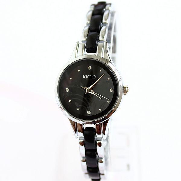 Kimio бренд алмазов часы часы женские дамы полный сталь серебро платье девушки женщин кварцевые часы браслет наручные часы круглый подарков
