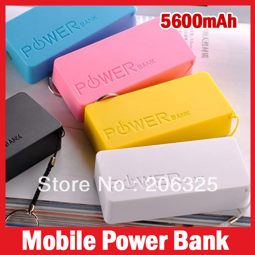 5600mAh USB External Backup Battery Power Bank for iPhone iPod Samsung HTC + Micro usb cable Retail box Perfume 2th(China (Mainland))