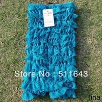 Christmas wholesale brand baby cute romper girls jumpsuit blue lace pure cake crochet tube top+pants bodysuit toddler clothing