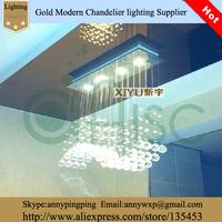Modern Rectangular Lustre Crystal Lighting LED Chandelier For Bar Living Room Restaurant  Lustres e Pendentes lamp