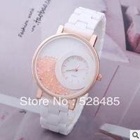 Free shipping,The new 2013 ceramic table Chinese valentine's day gift table direct quicksand diamond watch table