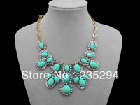 Luxury JC Statement Jewelry Necklace New Fashion Vintage Style Resin stone & Crystal New Jewelry for Women 2013 Gift