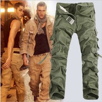 Big Sale !Free Shipping Free Shipping Hot selling washed high quality men's cargo pants Multi Pocket Jeans camouflage pants men