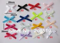 FZ029 Ribbon Bows Mixed 500pcs little bow without rose 2cm children clothes flower garment accessory