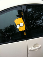 Snooping Simpson car sticker vinyl sticker free shipping