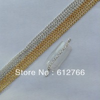 naill art decoration nail art  chain 10m gold and sliver
