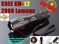 AUTHENTIC GUARANTEE E17 CREE XM-L2 2000LM tactical cree led Torch Zoom cree LED Flashlight Torch light For 3xAAA or 1x 18650