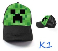 Minecraft Minecraft Game Kawaii Cap Hat 3Styles Christmas Birthday Gifts 5Pcs/lot Free Shipping