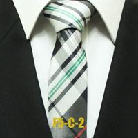 Unique Mens Classic Check White With Black Ties For Man Skinny Plaid Neckties For Man Gravatas 5CM F5-C-2