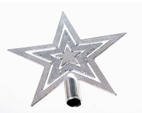 2013 New Christmas Lovely Hollow Design Star Silver 5.99$ for 2 sets