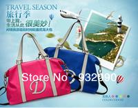 DERS  genuine new fluorescent color nylon cloth bag casual handbag Big LOGO fluorescent color wave packet
