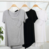 Wholesale New Hot Womans Lady Women Short-sleeved Loose Round Collar Trend Basic T-shirt Blouse Tops Tees Free shipping