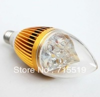 Epistar 6w  E14 LED Lamp Candle Bulb Light Sliver/Golden CE&ROHS Warm White/ Cool White 5pcs