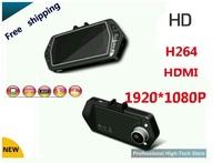 2013 new arrived free shipping Full HD 1080P with G-Sensor Car DVR V100 2.7'TFT Screen black box 120 degree DashBoard Camera