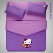 4pc hello kitty queen size bedding purple comforter set lovely kids bed linen bedsheet