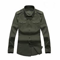 2013 new military Cargo  style mens long-sleeved denim shirts,all-match casual slim denim shirts for men,M-XXXL,6620