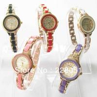 2013 brand new fashion 10pc Mixed Round with crystal Lady women Girl Bracelet Quartz watches Wristwatches Xmas wedding birth c44