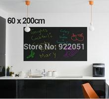 60 x 200 cm placa de giz Blackboard etiquetas removíveis vinil desenhe Decor Mural decalques arte quadro adesivos de parede para quartos de crianças(China (Mainland))