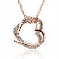 2014 new design high quality heart of the wound crystal jewelry fashion women Necklaces & Pendants