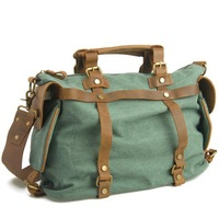 3 colors 2 sizes cow leather canvas bags men travel bags high quality fashion casual luggage bag vintage 1801