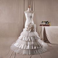2014 New design Real Sample Free shipping Strapless neck vestidos de noiva Tulle Elegant Mermaid Wedding Dresses DBY-115