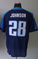 #28 Chris Johnson Men's Elite Alternate Navy Football Jersey