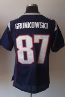 #87 Rob Gronkowski Men's Elite Team Navy Football Jersey