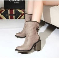 Genuine leather autumn and winter women's shoes boots single boots thick heel high heels boots martin boots women boots