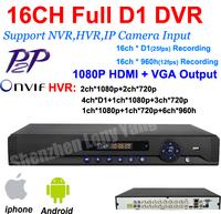 home surveillance 16ch full 960H D1 security wifi DVR, HDMI 1080P 16 channel DVR NVR ONVIF CCTV video DVR Recorder,HI3531 chip