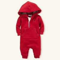 Children's clothing sports style romper warm outwear long sleeve romper  free shipping babysuit