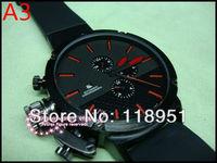 2014The new rubber strap big dial calendar automatic mechanical multifunction Original Swiss luxury watch business men U06