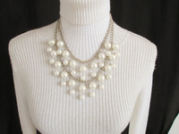 Special offer free shipping European and American style fashion beautiful multi-layered pearl alloy charm necklace