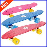 """2014 New  22"""" Colorful 4 Wheels Skateboard High Speed Mini Fish Board Penny Skateboard for Child Penny Skate Board HB14"""
