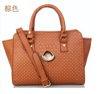 2014 new Hot women's handbag fashion brief pattern shoulder bag handbag motorcycle bag big bags College Style tote