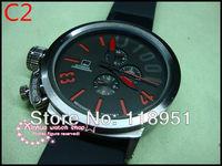 Hot new world watches big dial calendar automatic mechanical rubber band multifunction original Swiss luxury men's watch U09