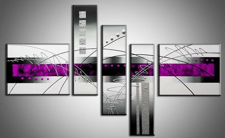 online kopen wholesale paarse abstracte schilderijen uit. Black Bedroom Furniture Sets. Home Design Ideas