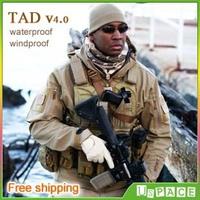 TAD v4.0 shark skin soft shell jacket Military Tactical Jacket Outdoor TAD waterproof windproof fleece Army Clothing
