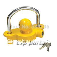 trailer lock, trailer coupling lock, anti theft trailer lock,tow ball coupling yellow hitch lock